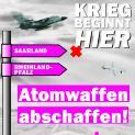 'Krieg beginnt hier' protestiert am 30. Juni / 1. Juli in Büchel:
